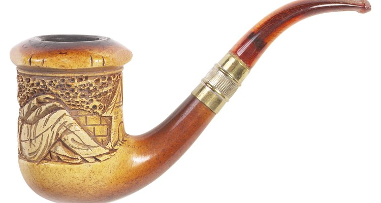 Real meerschaum pipes become darker with age.
