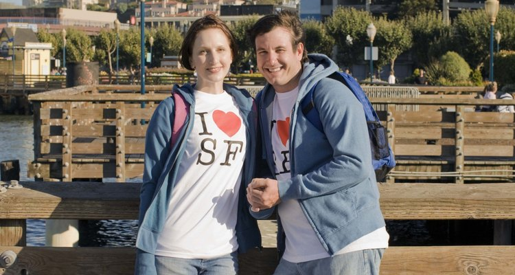 Handmade matching T-shirt make cute second anniversary gifts for couples.