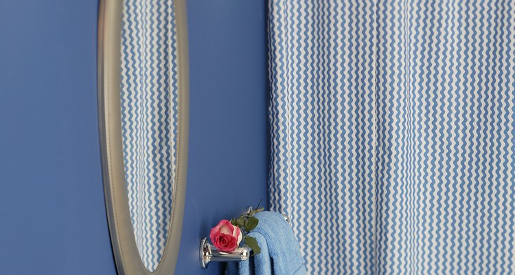 A wrinkle-free shower curtain can make a bathroom appear more inviting.