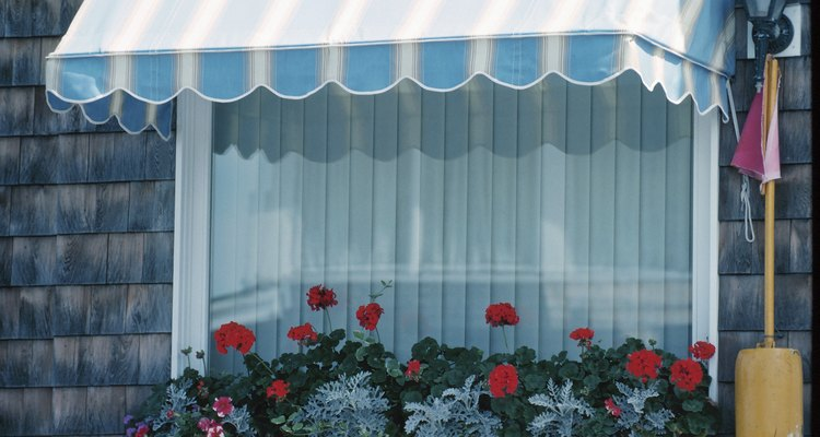 An awning controls the effect of the intense summer sun.