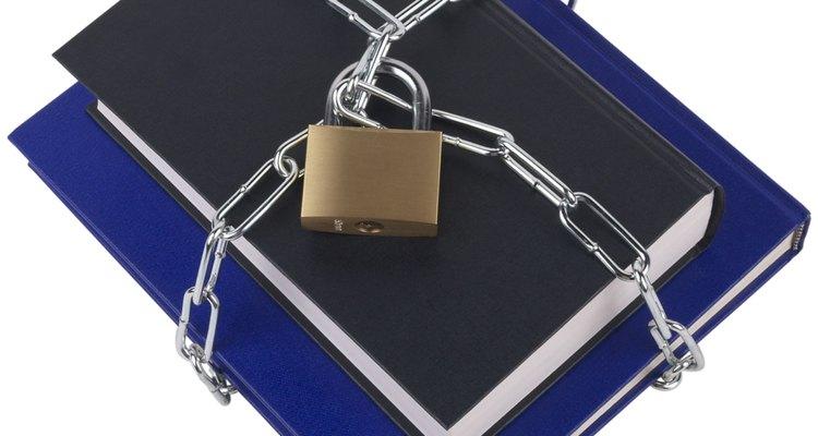 A cola certa manterá os seus livros mais seguros do que cadeados e correntes