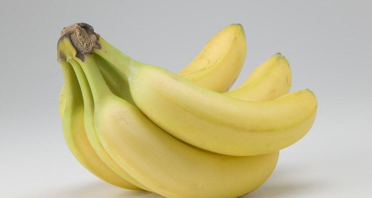 Los plátanos son una excelente fuente de fibra dietética.