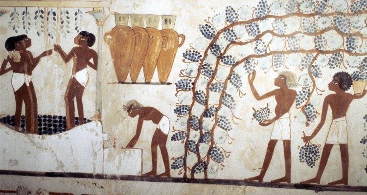 A produção têxtil egípcia data de centenas de anos atrás