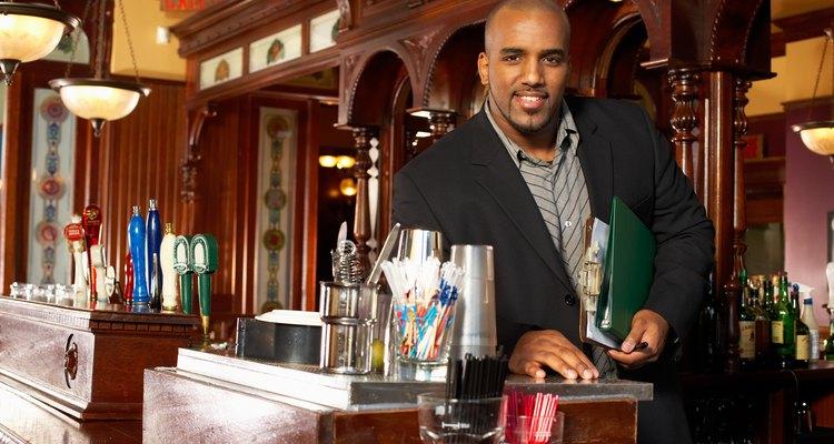 Restaurant manager posing