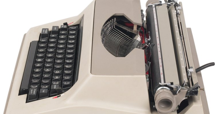 As máquinas de escrever foram o principal método de produção de documentos individuais durante mais de um século