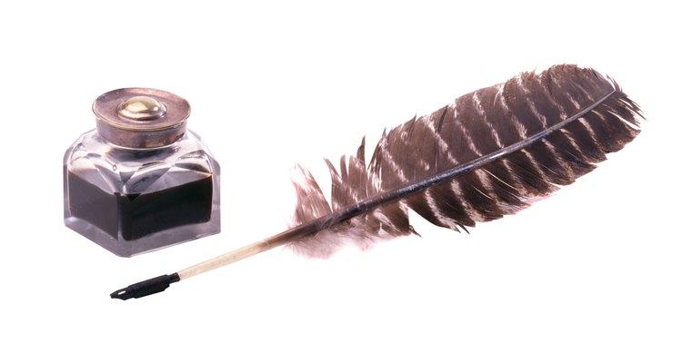 A pena e a tinta eram utensílios comuns de escrita no século 19