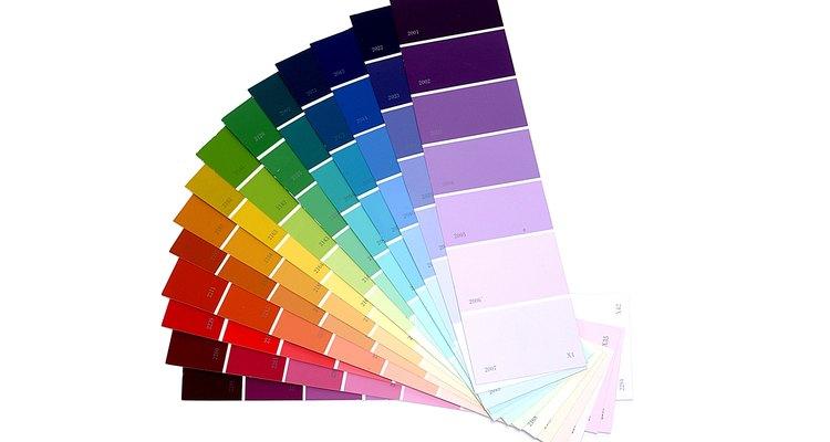 Os dois tipos de tinta possuem uma grande variedade de cores