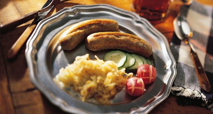 A bratwurst é deliciosa por si só