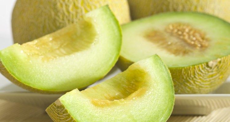 Os melões são compostos principalmente de água