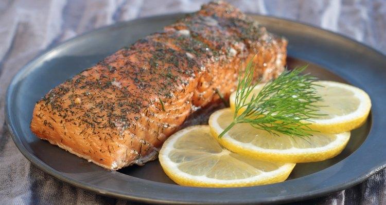 Smoked salmon.