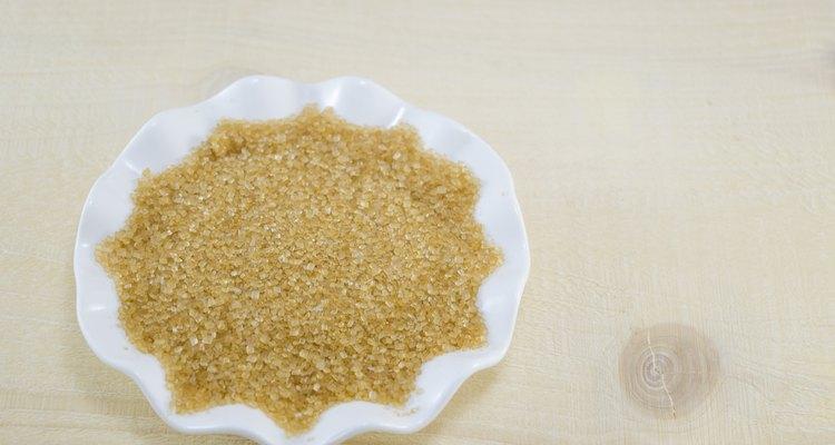 Brown sugar in a white plate
