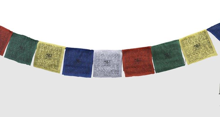 Banderas de oración para transportar las plegarias en el viento.