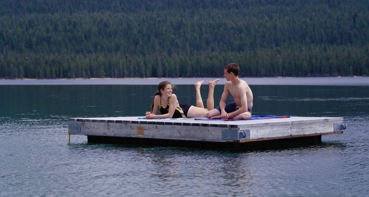 O isopor é ideal para a construção de cais flutuantes