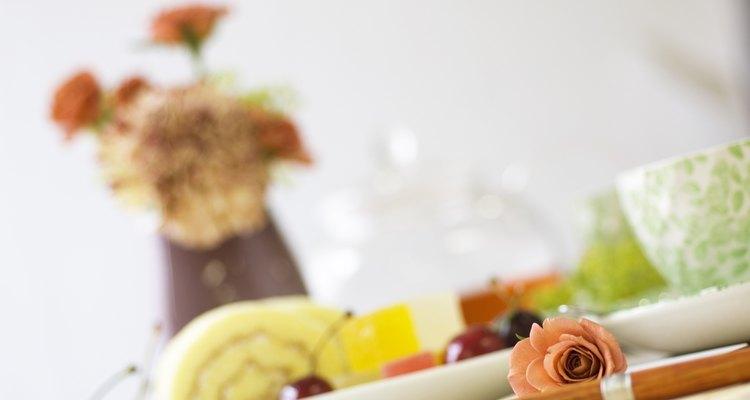 Afternoon tea on table setting