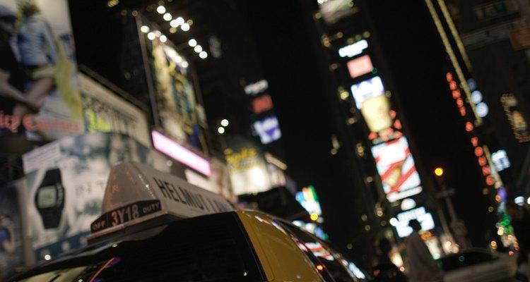 Los taxis amarillos están autorizados para recoger pasaje en la cuidad de Nueva York.