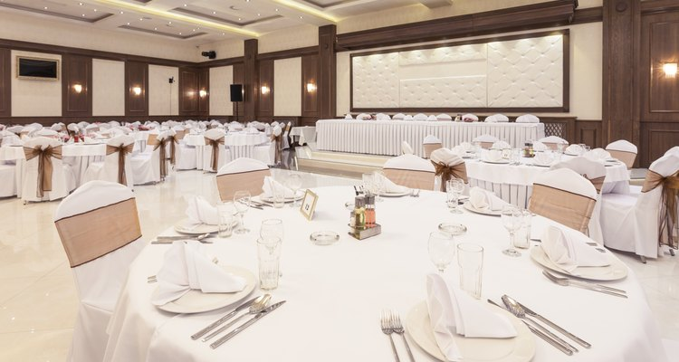 Arranged table at banquet hall
