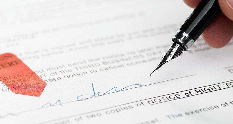 Man signing document, close-up