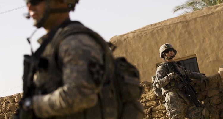 Soldados estadounidenses patrullando en Irak.