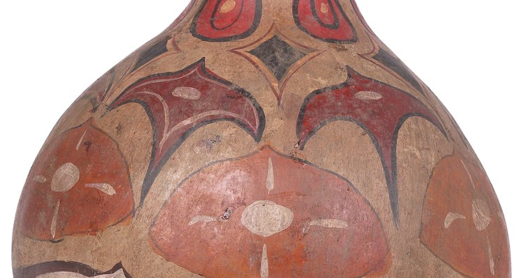 Cherokee would carve and paint large gourds for masks.