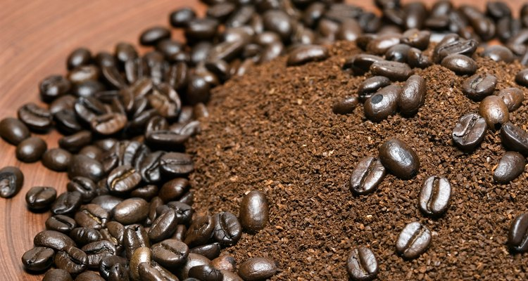 Ground coffee and whole beans