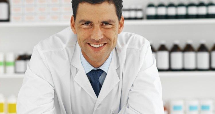 Farmacêutico na farmácia