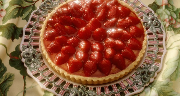 Pastel de fresas.