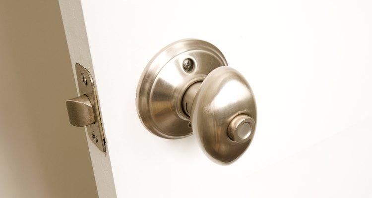 An interior door is easy to fix.