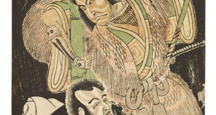 Los antiguos guerreros samurái japoneses fueron identificados fácilmente por su apariencia.