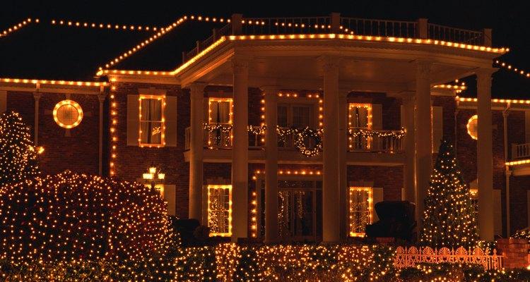 Decoración navideña de una fachada.