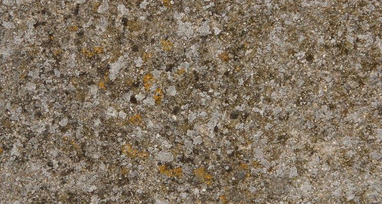 A cor do granito varia segundo a composição de cada veia