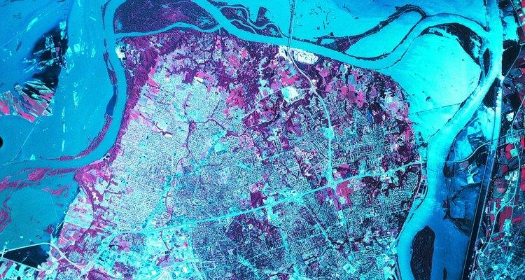 Confluencia de río Mississippi y Missouri.