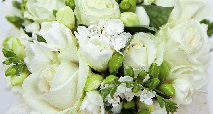 Detail of bridal bouquet
