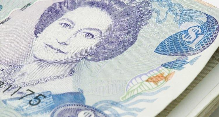 Palno cercano de una libra británica.