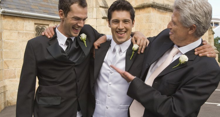 Groom with father and groomsmen