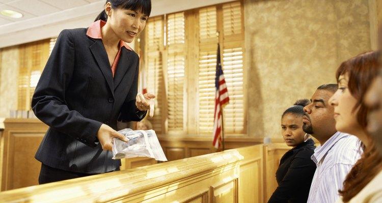 Abogada en la corte.