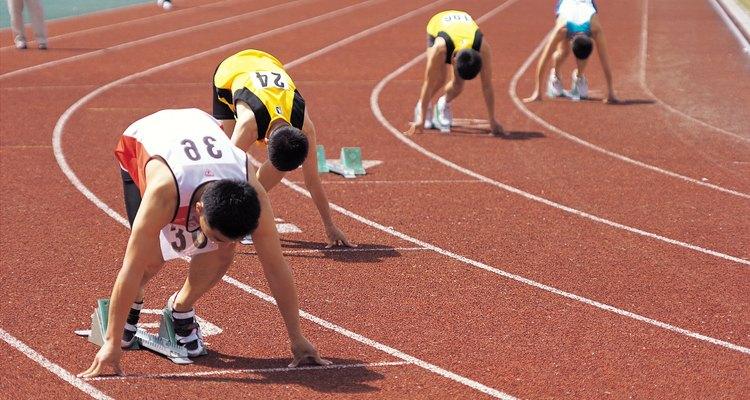 Algumas pistas possuem números que denotam cada pista de corrida