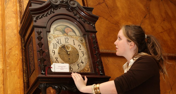 A grandfather clock requires careful maintenance.