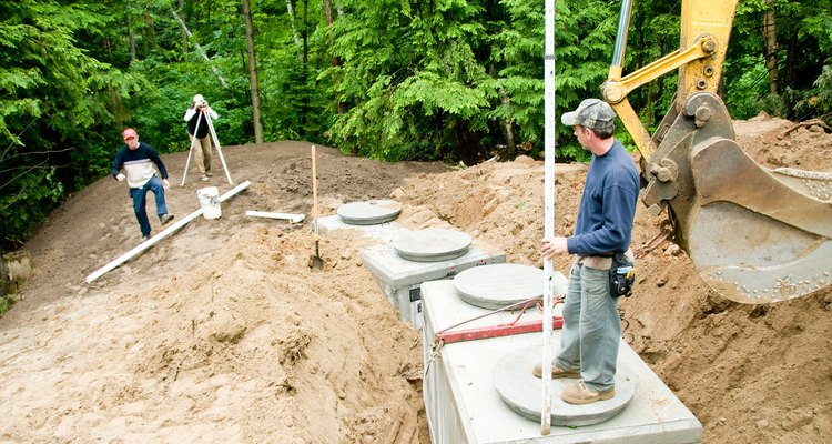 Septic systems must accommodate local terrain.