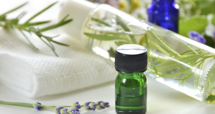 natural cosmetics and essential oils  for skin care