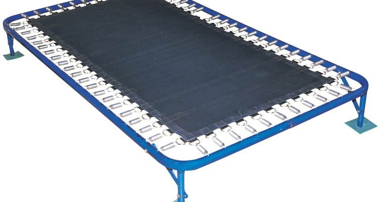 Lubricating the springs and hinges of your trampoline will eliminate squeaky noises.