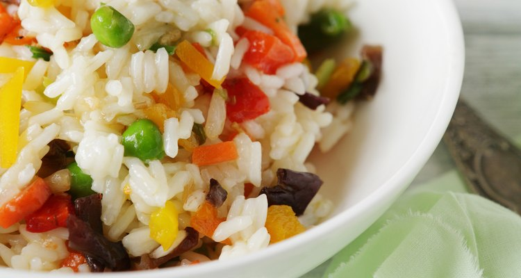 Rice with vegetables in a bowl
