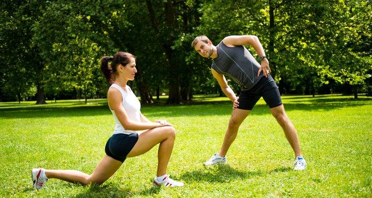 Alongue-se, antes dos exercícios