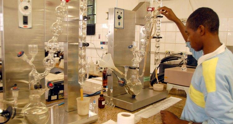 Distilling is done in distillation columns.