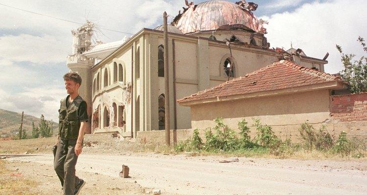 Bomb damage in Serbia