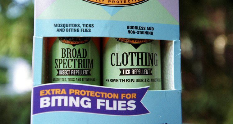 Insect repellents with DEET will keep gnats from eating you alive.
