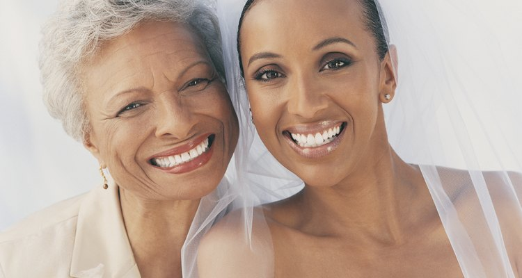 Portrait of a Smiling Bride With Her Mother