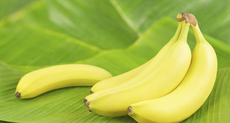 Bananas on leaves