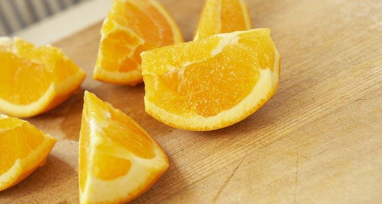 Muitas frutas cítricas possuem pouco amido, mas muito ácido