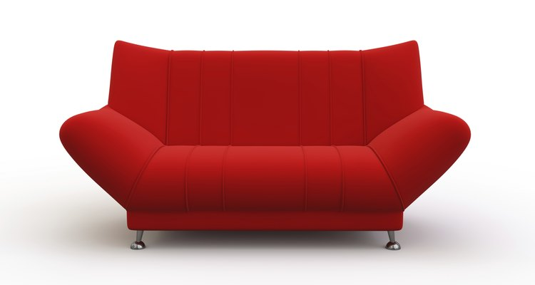 Red couch.