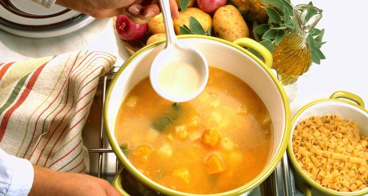 La sopa es una comida sentimental.